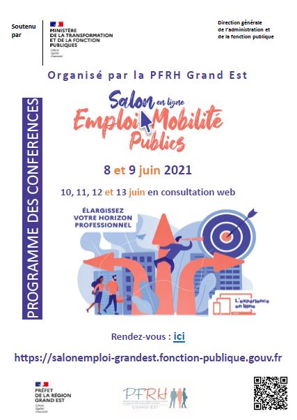 Salon en ligne Emploi Mobilité Publics du Grand Est – 08-09 juin 2021